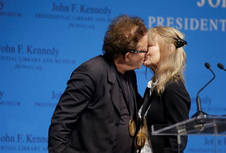 Tom Waits and Kathleen Brennan at the Kennedy Center Photo by Steven Senne/AP